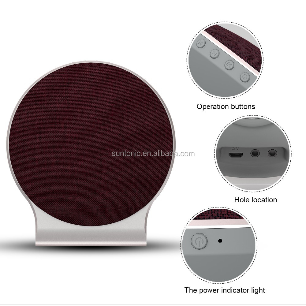 Desktop Fabrics Bluetooth Portable Wireless speaker (Cloth,Hi-Fi Bluetooth,Strong Bass,Superior Sound) Compatible for iPhone 7