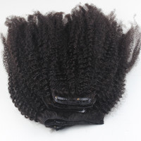 Afro Kinky Straight Clip in Hair Extensions For Black Women,Virgin HairClip In Hair Extensions