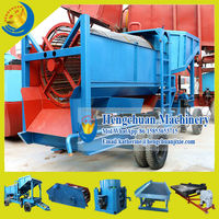 China Qingzhou Hengchuan Mobile Trommel Gold Washing Machine in Ghana
