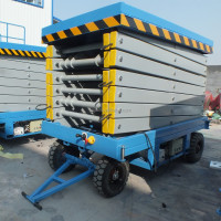 Hydraulic ladder lift scissor type used man lift