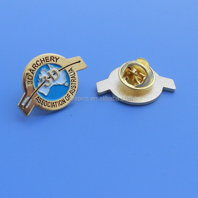 3d archery association of australia gold plated custom pin badge