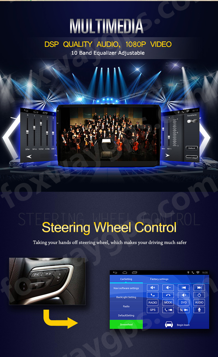 High quality and touch screen car navigation with car radio multimedia for VW Teramont