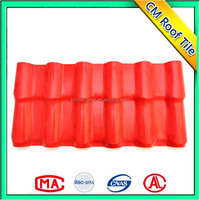 Bright Colors Synthetic Resin Spanish Roof Tile,Environment Friendly PMMA/ASA PVC Roof Tile