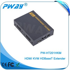 Alibaba supplier Pinwei PW-HT201H support KVM USB IR RS232 100M ( over a single CAT6 cable) HDBaseT HDMI extender