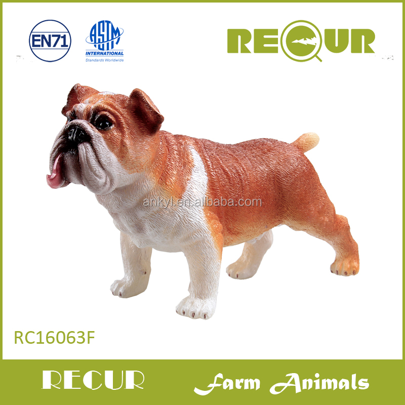 Recur Bulldog ,soft plastic dog toy ,farm animal for wholesale