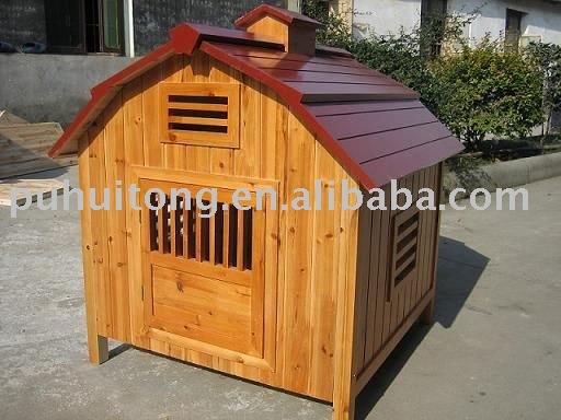 Wooden dog cages