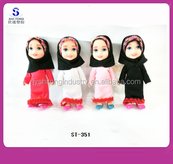 Funny 6 inch Small Muslim Baby Dolls Islamic Toy Dolls