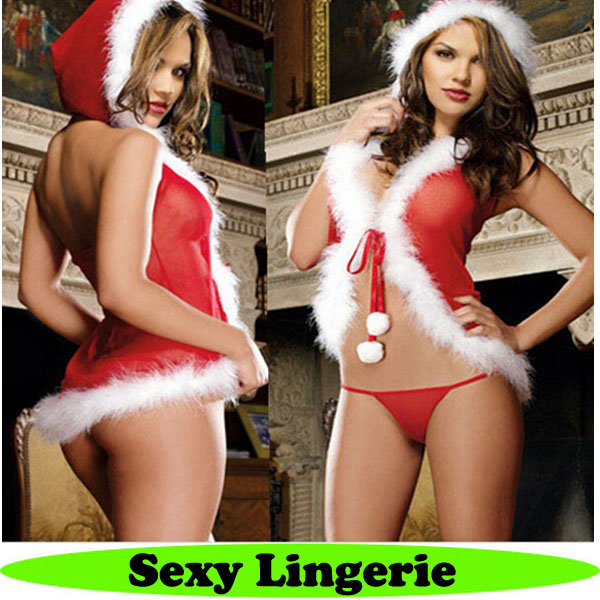 Christmas fashion babydoll lingerie pic sleepwear sexy for women cheap sexy lingerie
