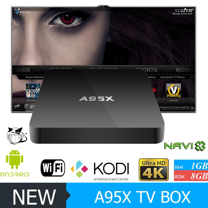 Factory stable android 5.1 s905 4k tv set top box a95x netbox with CE certificate