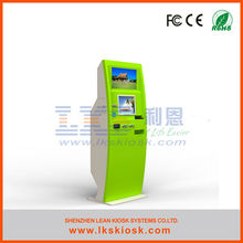 LKS self service payment kiosk with ticket dispenser machine