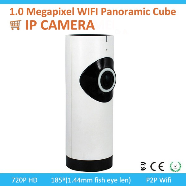 2016 New product 1.0 Megapixel WIFI Panoramic IR Cube IP Camera