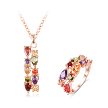 LZESHINE Wholesale Jewelry Ladies Cubic Zirconia Necklace and Ring Sets Party Gift Jewelry Sets CST0032