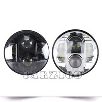 "Hot sale!! Car Parts For Jeep Wrangler 7"" led head lamp Round 80w 7 inch led headlight ,ATV"