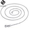Wholesale 100% Real Pure 925 Sterling Silver necklace O shape chain