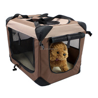 Soft pet dog crate folding fabric dog crate travel dog pet carrier