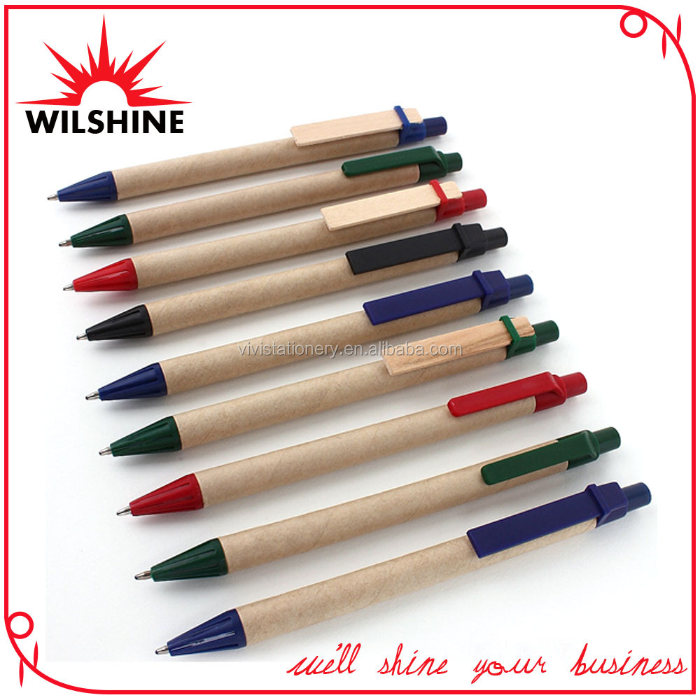 Cheap Price Paper Pen with Wooden Clip
