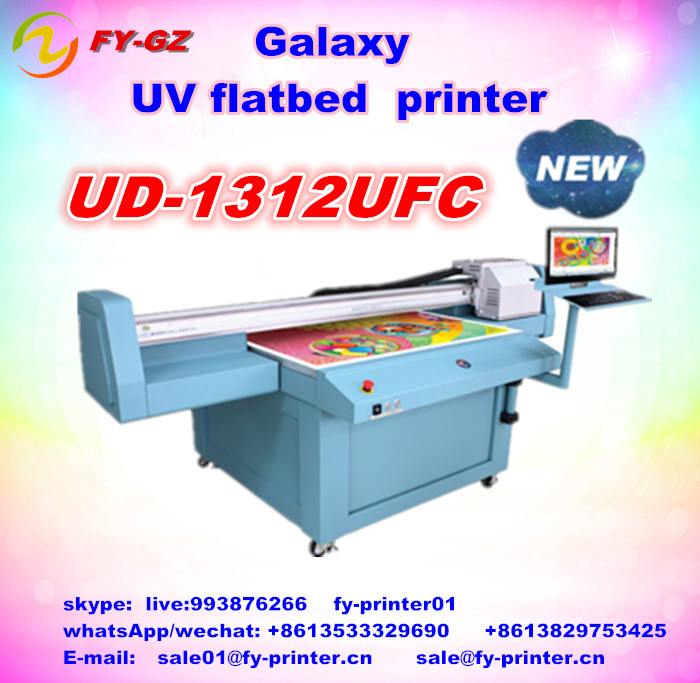 Factory price galaxy jue uv ink for dx5 printhead can print all material such as glass,wall background,signage,etc.