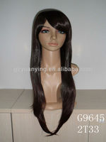 machine-made synthetic full lace wig in wig shop