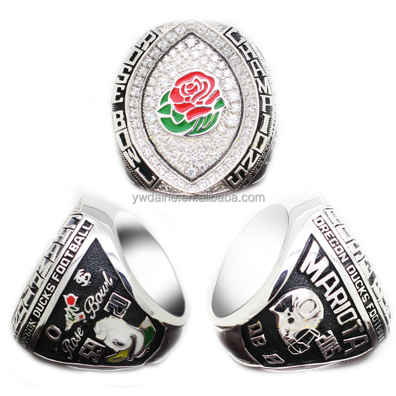 Men's ring & Daihe 2015 Oregon Ducks Rose Bowl Replica championship super bowl ring