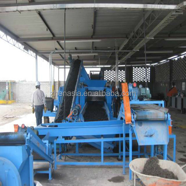 Used tire recycling equipment fine rubber powder mill