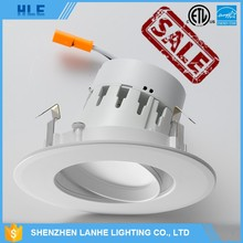 China manufacturer wholesale dimmable 2700K adjustable smd 2835 12w cob ES and UL ETL listed gimbal led downlight