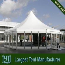Pinnacle Hexagon pagoda Party Tent Supplier / Octagonal Frame Tent Marquee