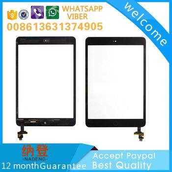 spare parts for ipad mini 2 glass touch digitizer completed wth home button ,for ipad glass touch accept paypal
