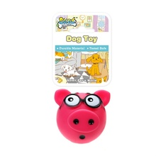 Quick Lead China Pet Toy Supplier Squeaky Vinyl Classic Dog Toy Pig
