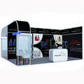 Detian Offer acrylic display stand exhibition system with display cabinet booth for trade show