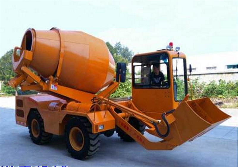 3 Cubic Meter Diesel Mobile Self-loading Cement Transit Mixer Truck
