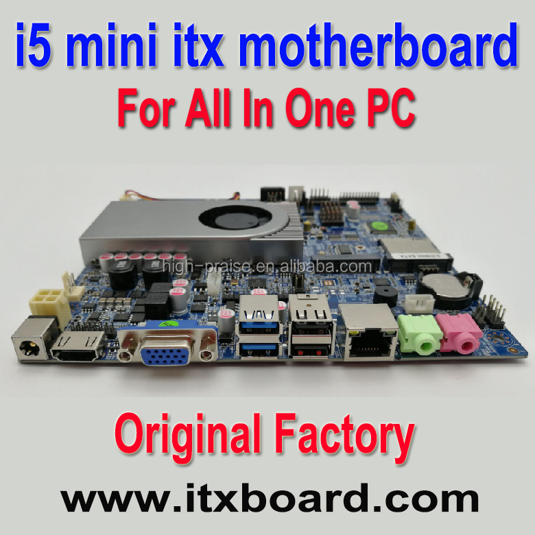 Intel Core i5 embedded mini itx all in one motherboard with LVDS HDMI VGA