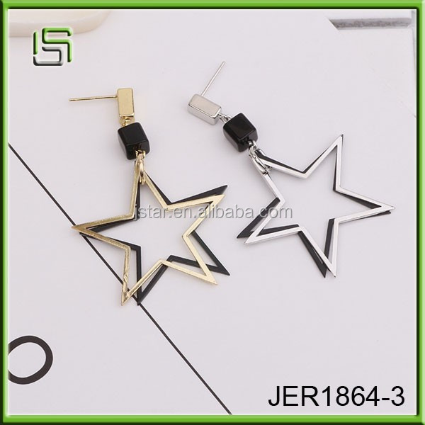 Wholesale fashion star long pendant jewelry earrings