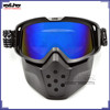 BJ-MG-024 Motorcycle Detachable Flexible Goggles Adult Mouth Filter goggle glasses