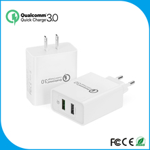 2016 new arrival Qualcomm Quick Charge 3.0 USB smart portable Charger, Travel Charger QC3.0 USB Wall Charger