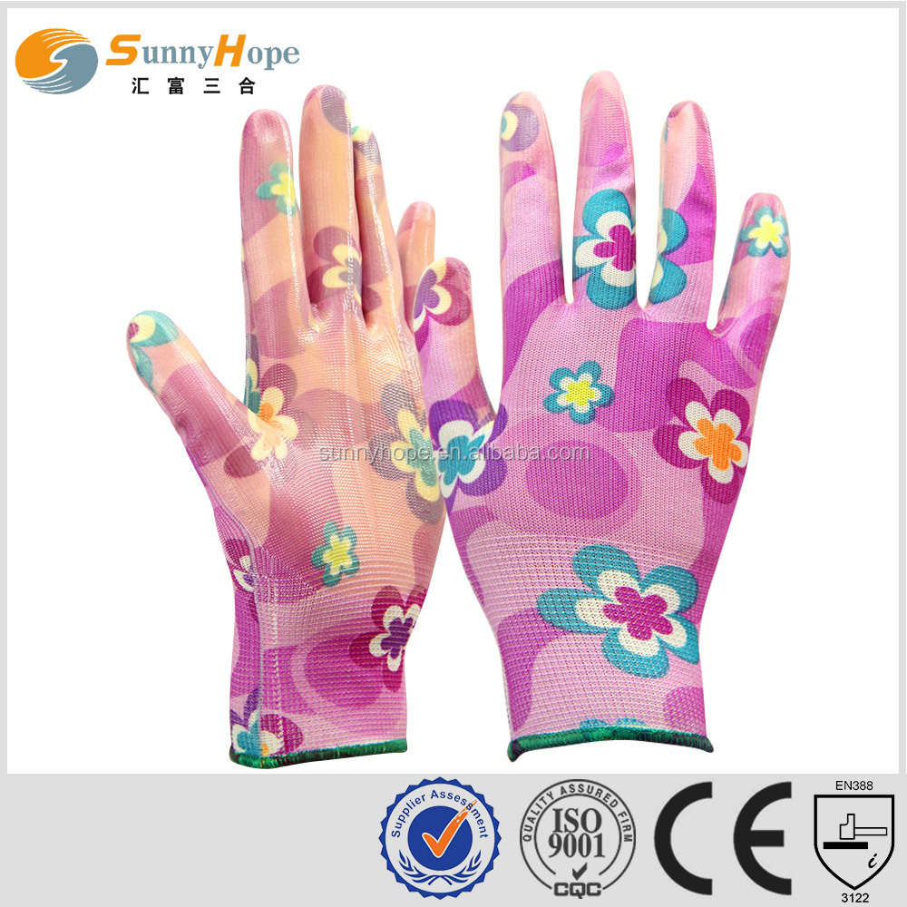 sunnyhope nitrile coated safety chemical hand gloves