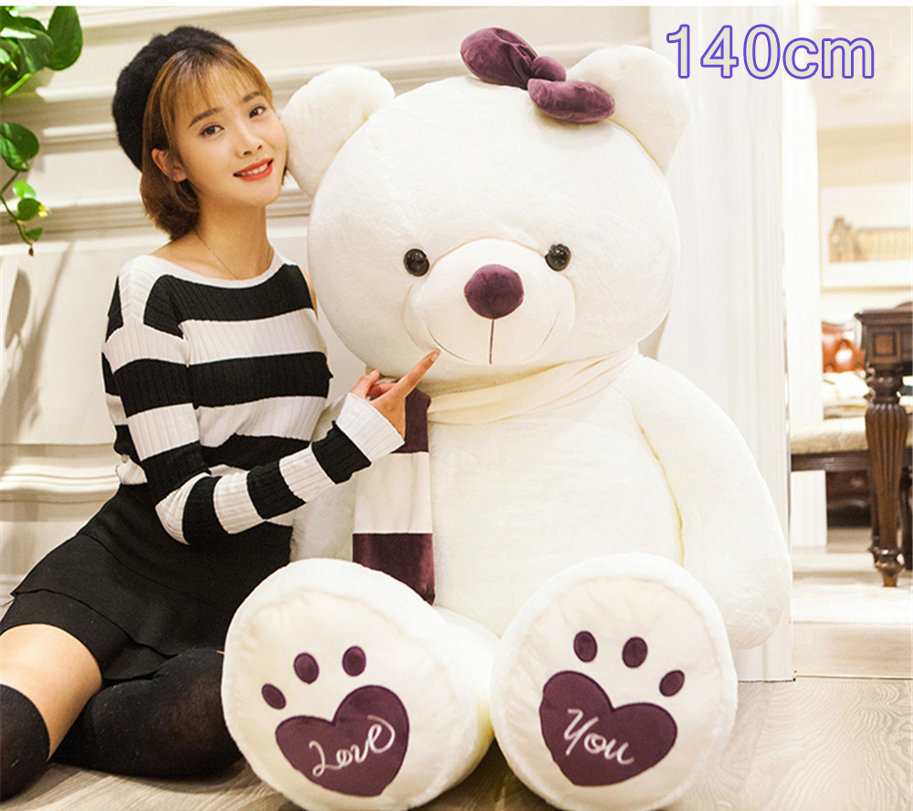 Fancytrader Huge Giant Love Teddy Bears Plush Toys Gifts for Girls Soft Big Stuffed Bears Doll Christmas New Year Valentine's Day Gifts 16