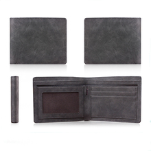 Handmade Rfid Blocking Genuine Leather Bifold Wallet with Coin Pocket