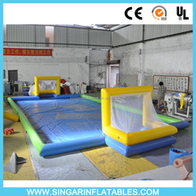 inflatable water soccer field,inflatable water football pitch