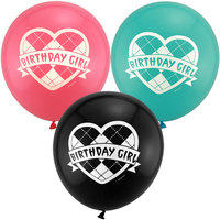 latex free balloon with logo