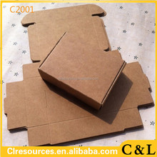 3*3*2cm Brown Kraft Craft Paper Jewelry Pack Boxes Small Gift Box