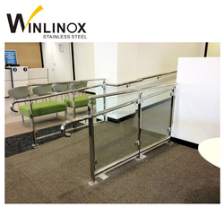 Exterior stainless steel handicap stair rails, handrail disabled