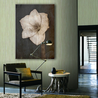 Beautiful white flower canvas painting wall pictures for living room