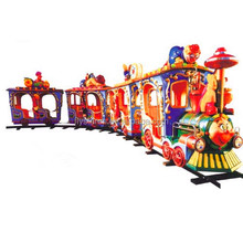 outdoor fairground ride small kids amusement park electric track trains rides for sale