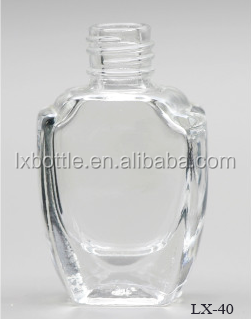 DH-40 classic empty custom made glass nail polish bottle container for gel nail polish packing