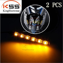 Motorcycle LED Fork Turn Signal Indicator Lights Sportbike Cruiser Blinkers