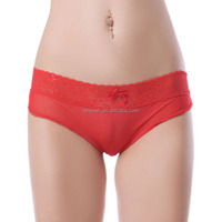 On sale best quality red transparent nylon elastane panties