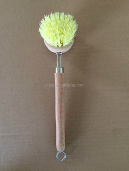 Beech wooden with tampico material dish washing pan brush