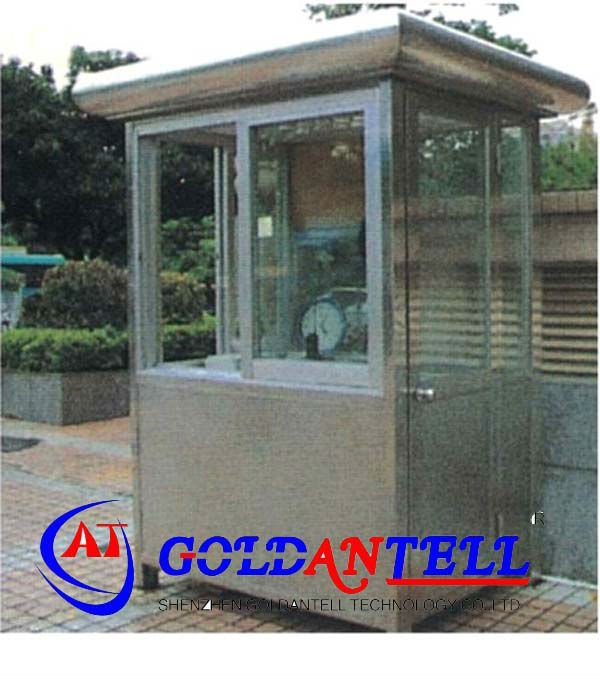 Security retractable safety bungalow steel house & sentry box house & mobile sentry box