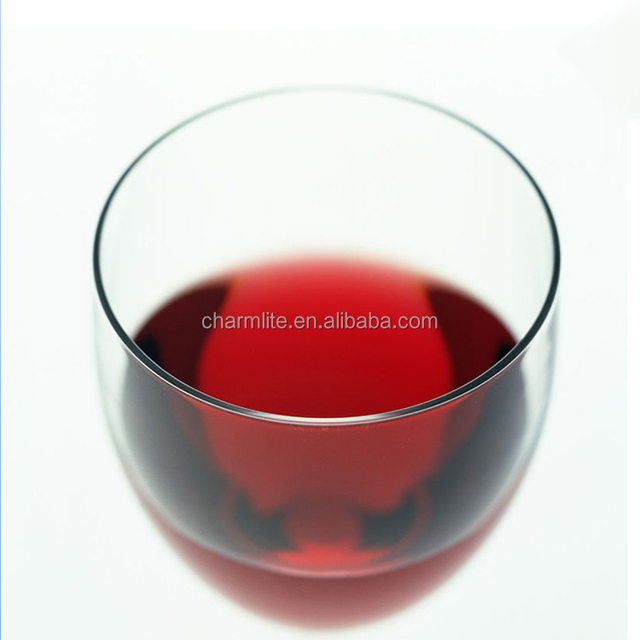 Wholesale Crystal Wine Glass Colored Stemless Wine Glass