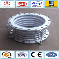 Circular flange connection teflon ptfe lined stainless steel bellows